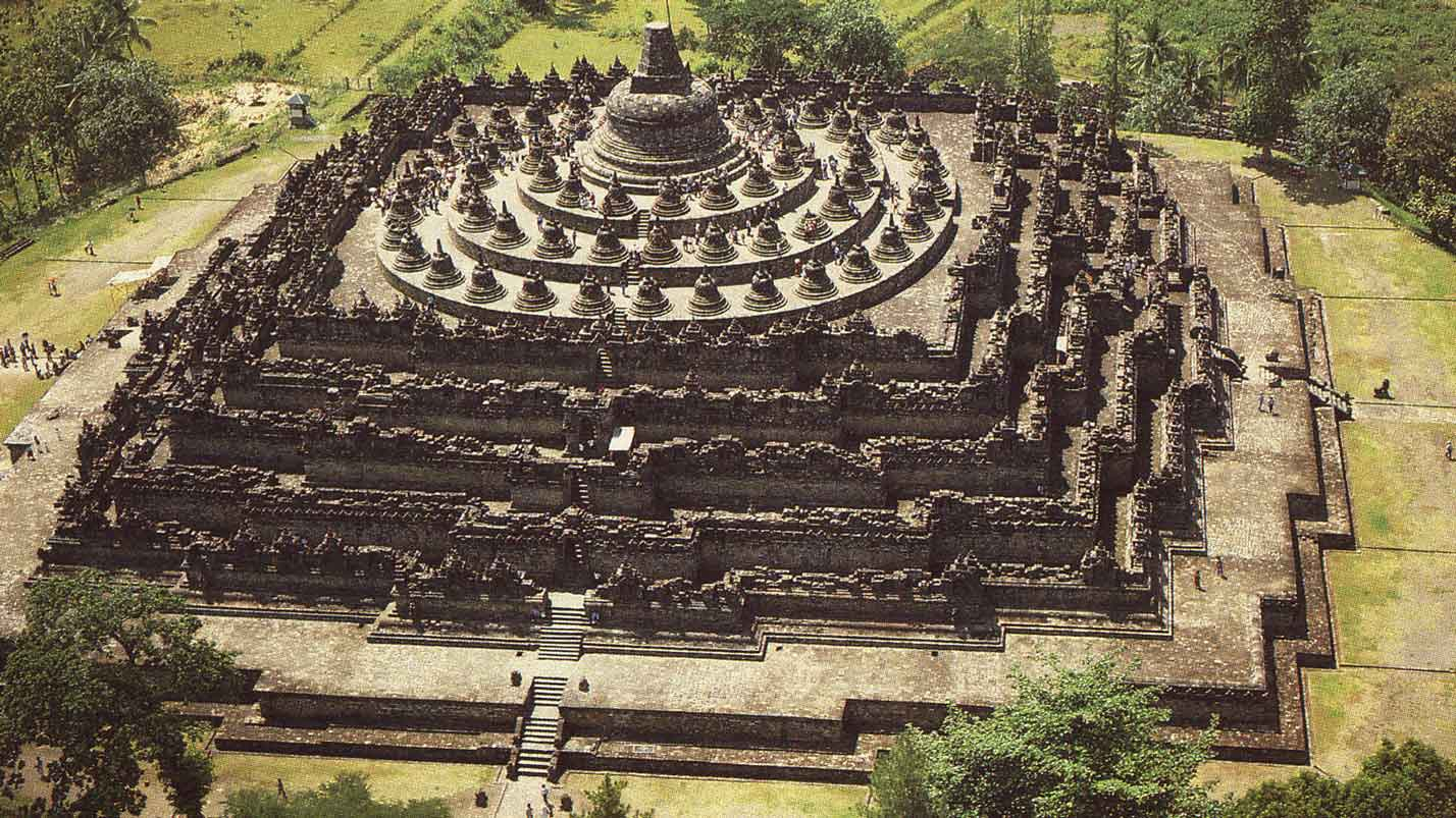 Borobudur-temple-view-from-top