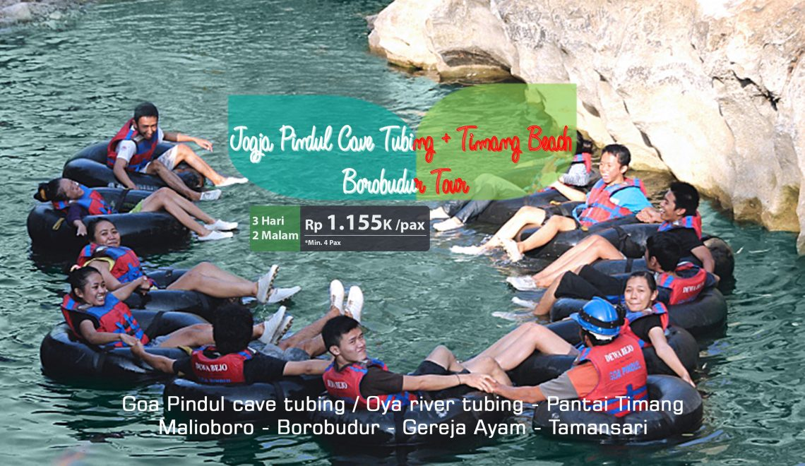 Jogja Pindul Cave Tubing + Timang Beach + Borobudur Tour 3D2N