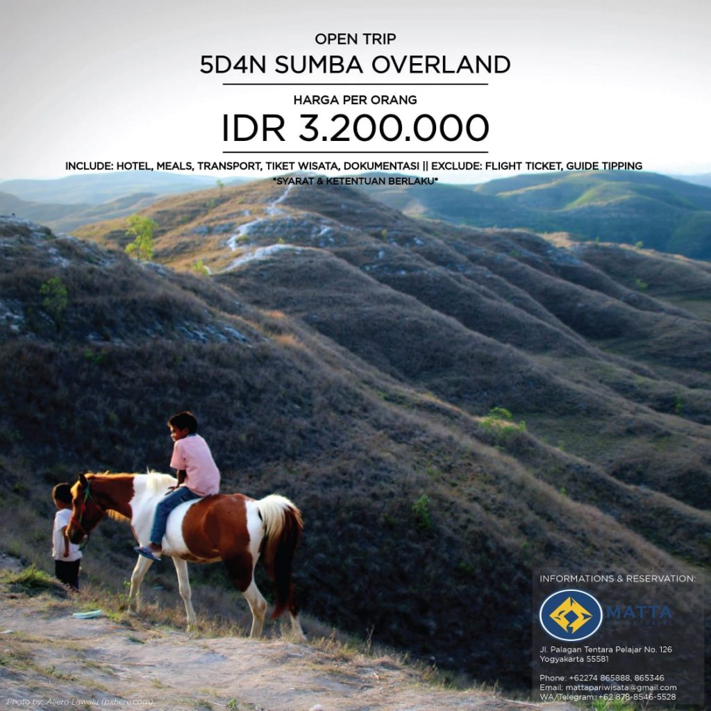 Open Trip 5d4n Sumba Overland West To East Matta Tour Travel